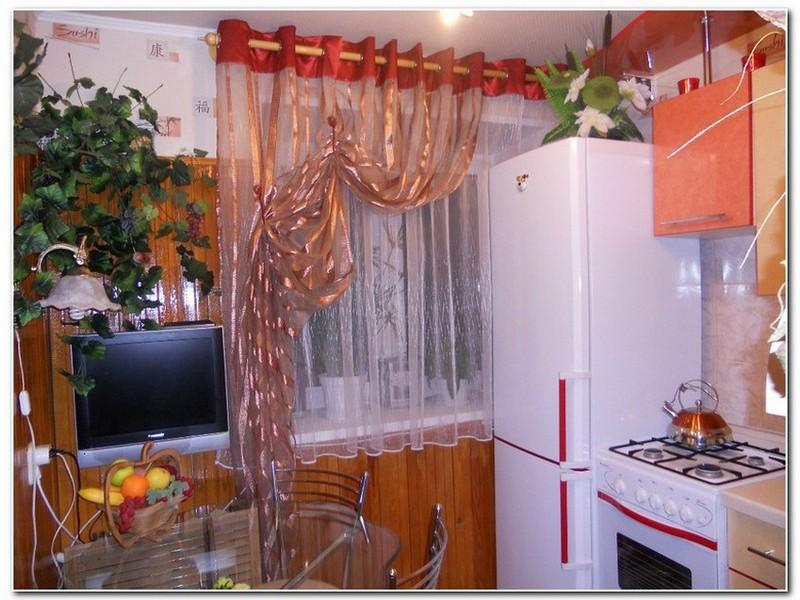 Шторы на кухню люверсы