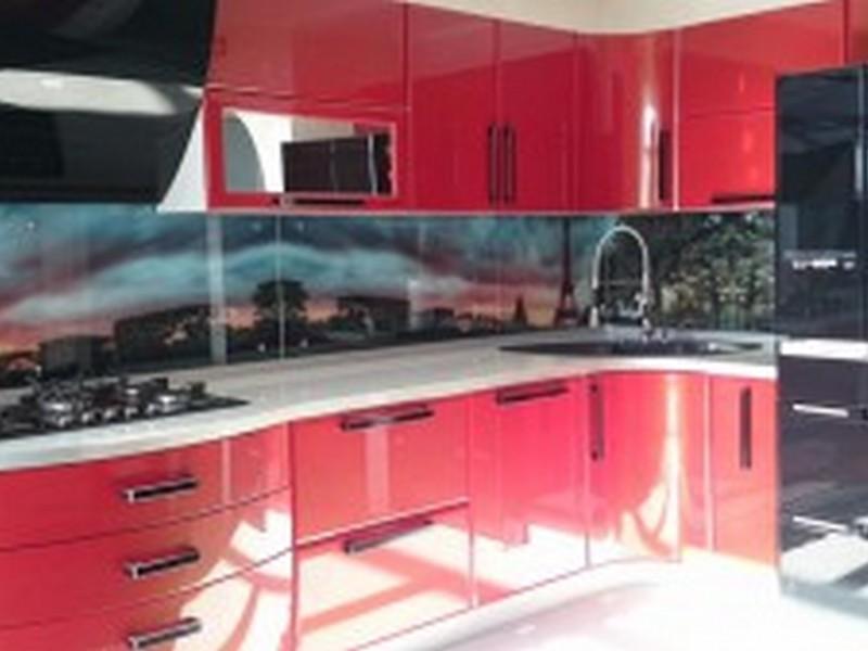 Красные с черным кухни фото дизайн