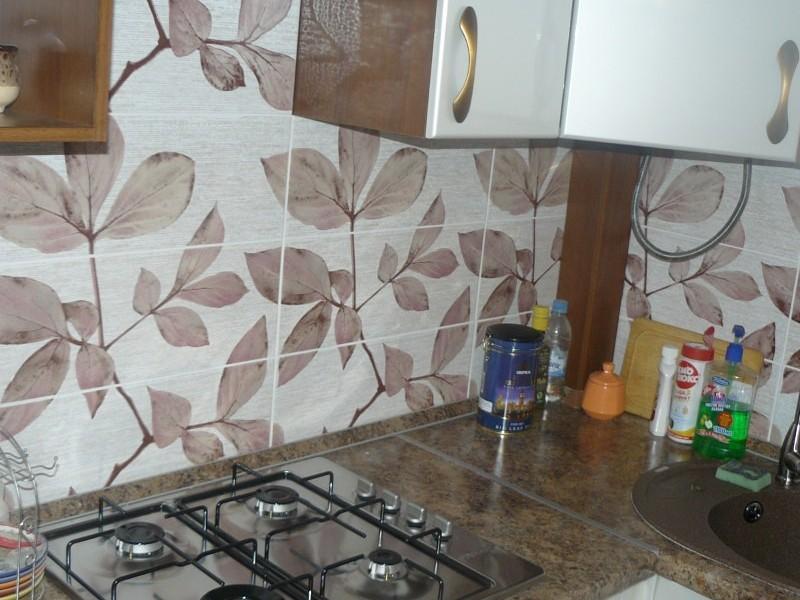 Schürze in der Küche von Fotofliesen