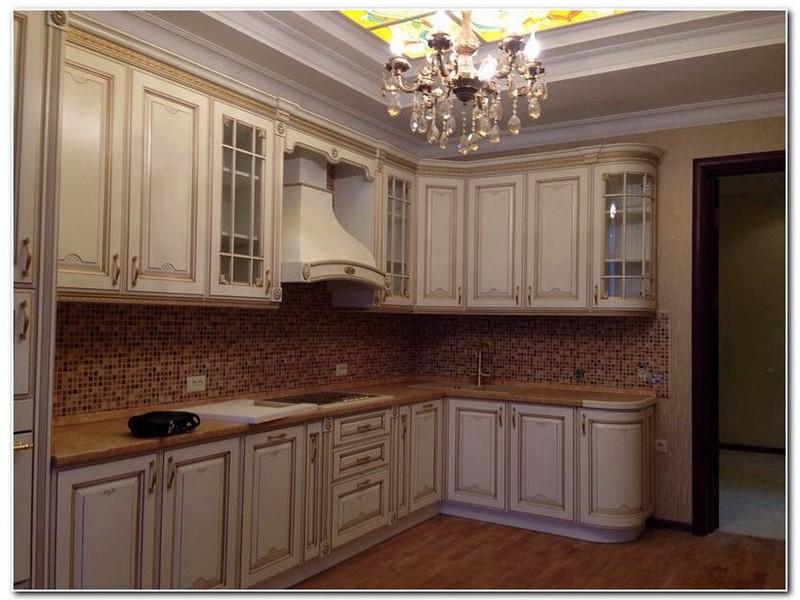 Кухня студия в стили кантри.