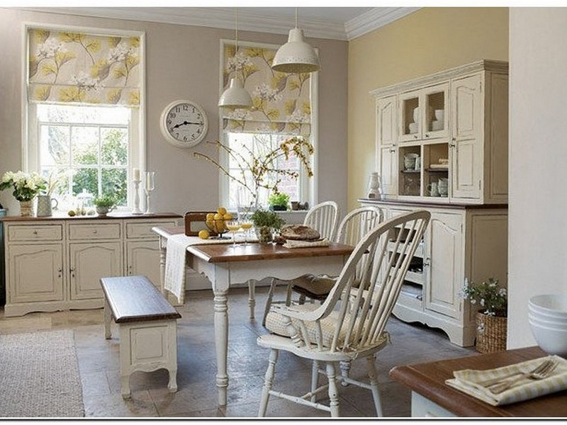 Дизайн римских штор кухни