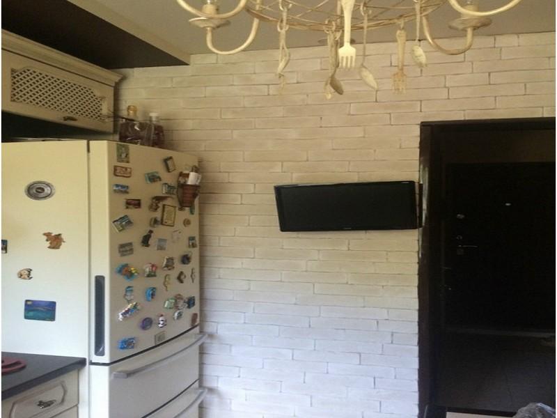 фотообои в интерьере кухни фото кирпич
