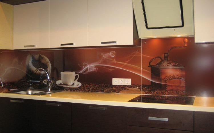 Фартук для кухни из стекла (60+ реальных фото)