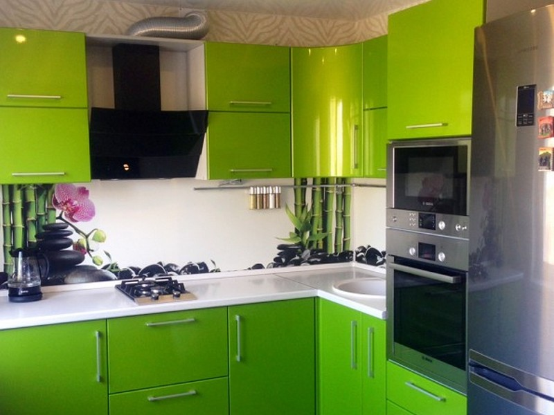 Кухня зеленая фото дизайн