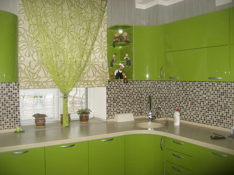 фото кухни зеленого цвета