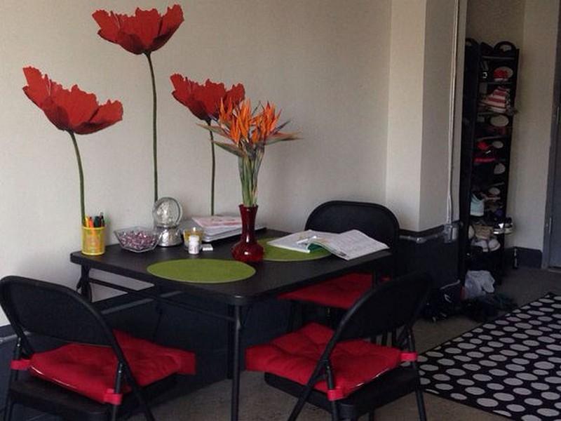 Красно-черная кухня: выбираем обои, фартук, шторы (47 реальных фото)