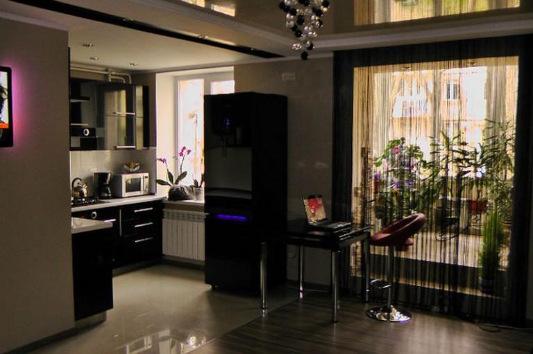 Дизайн кухни гостиной (реальные фото).