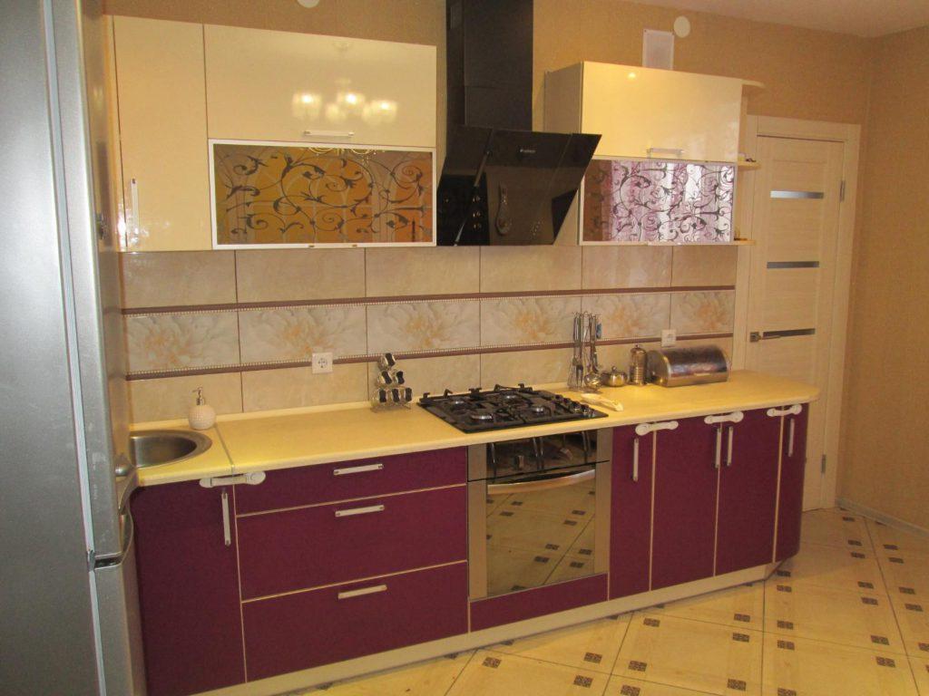 Интерьер прямой кухни реальные фото