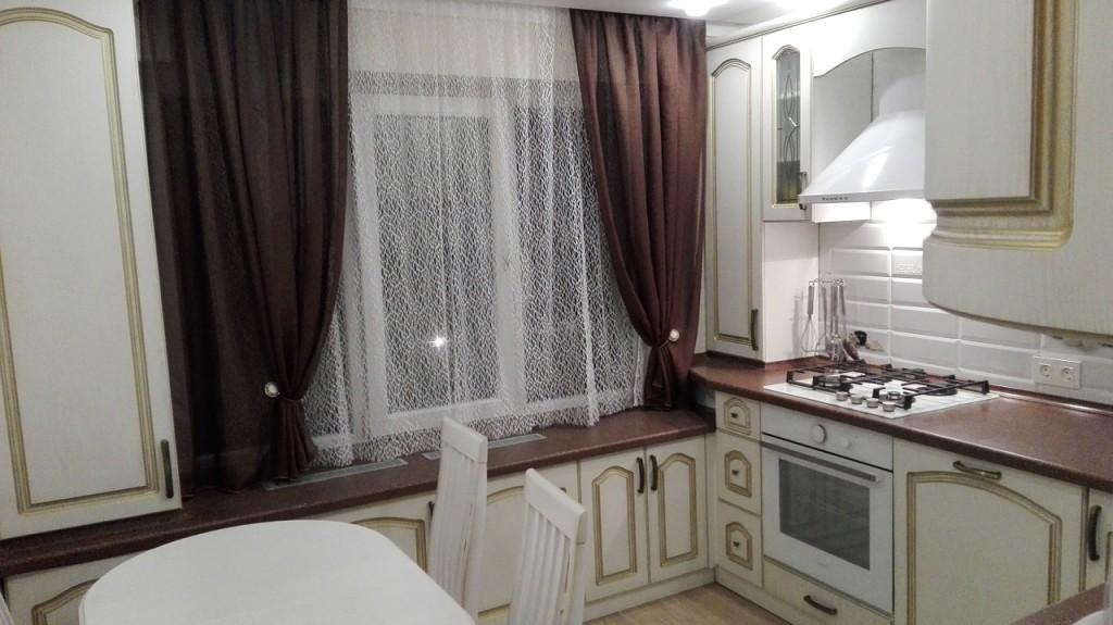 шторы кухонные короткие фото