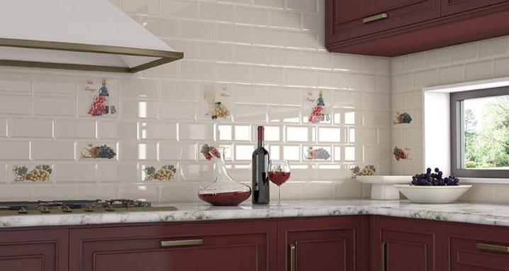 фото кухня фартук из плитки