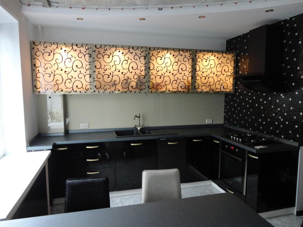 Дизайн кухни в черном цвете: 80  реальных фото интерьеров