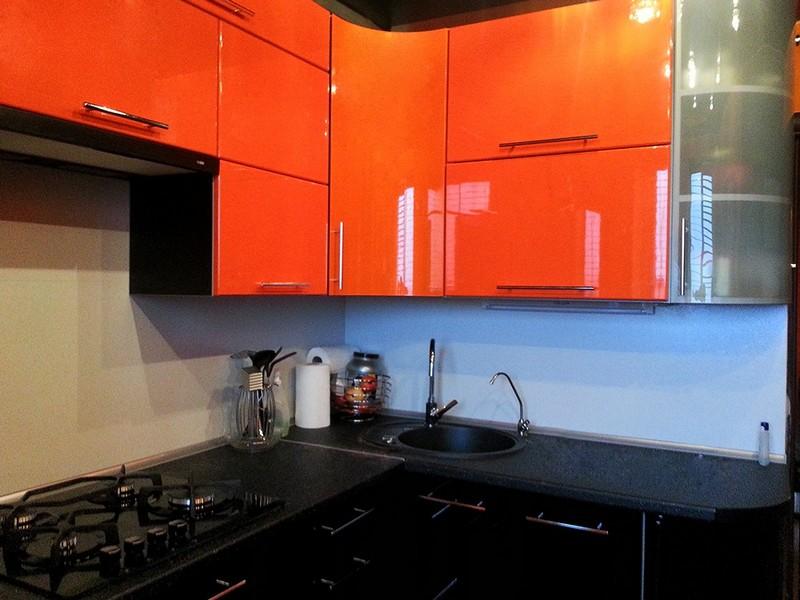 Дизайн кухни черно оранжевого цвета: реальные фото примеры, варианты оформления