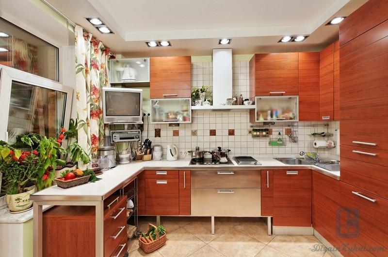 Прямые кухни длиной 3 метра: выбор кухонного гарнитура и фото реальных интерьеров