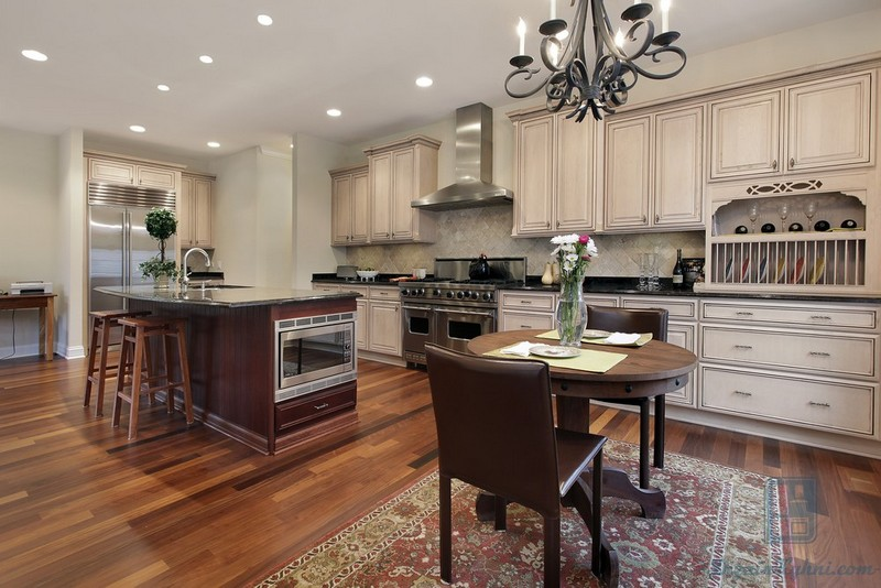 Кухня из дерева- фотогалерея (138 фото)
