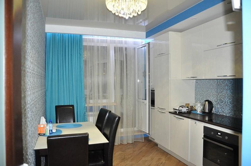 Шторы для кухни с балконом фото дизайн