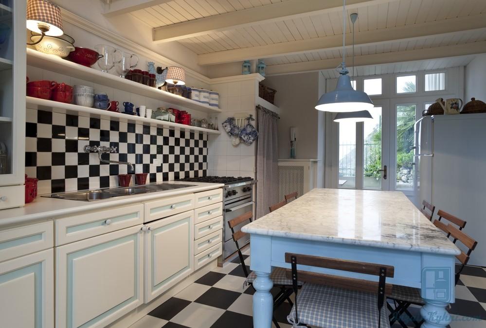 Дизайн кухни в стиле ретро: рекомендации по оформлению и фото примеры
