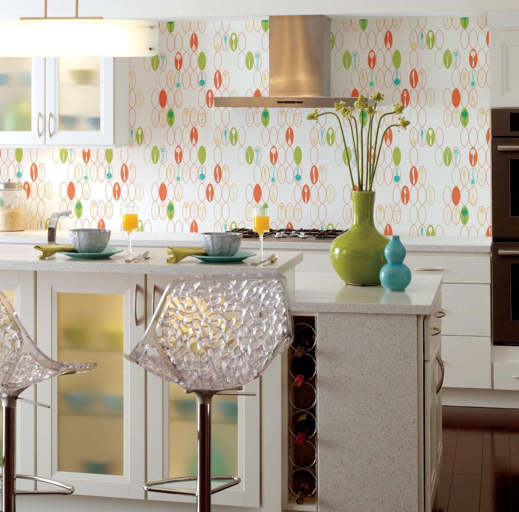 Как правильно выбрать обои для маленькой кухни: практические советы, 100+ реальных фото примеров