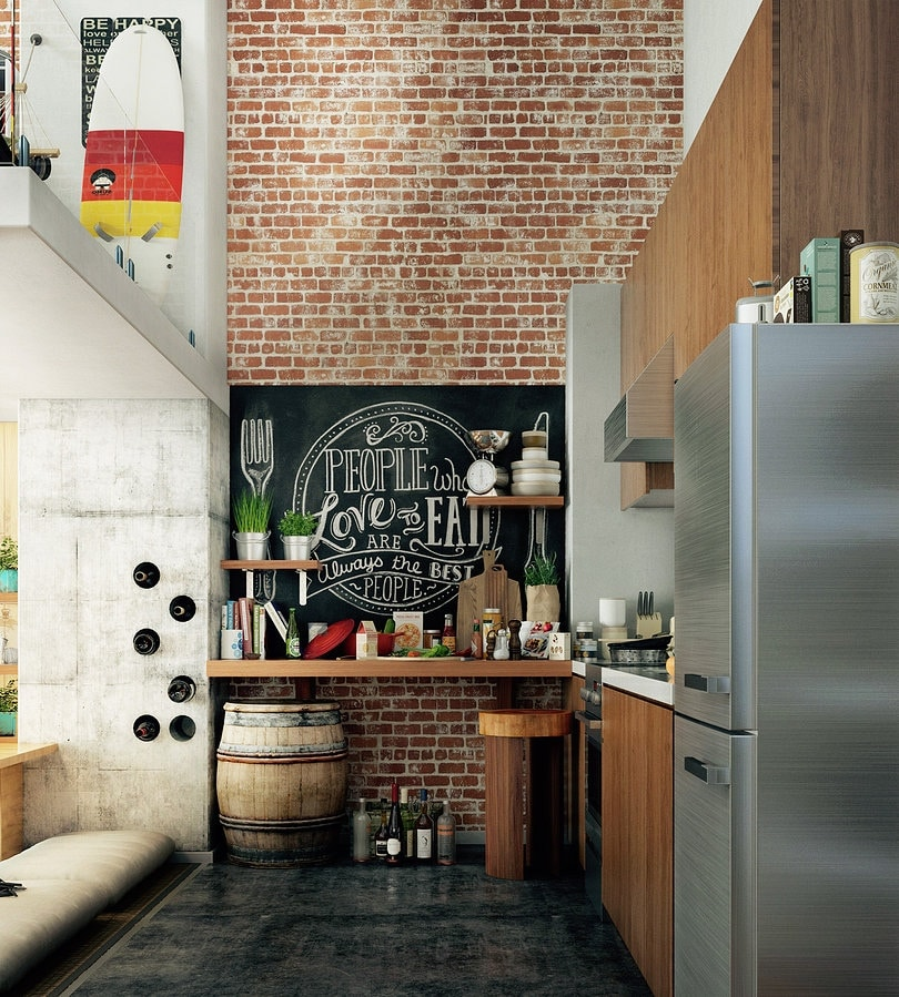 Кирпич в интерьере кухни: 9 практических советов от дизайнеров, реальные фото примеры