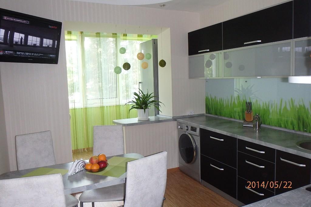 Объединение балкона с кухней-фотогалерея (реальные фото примеры)