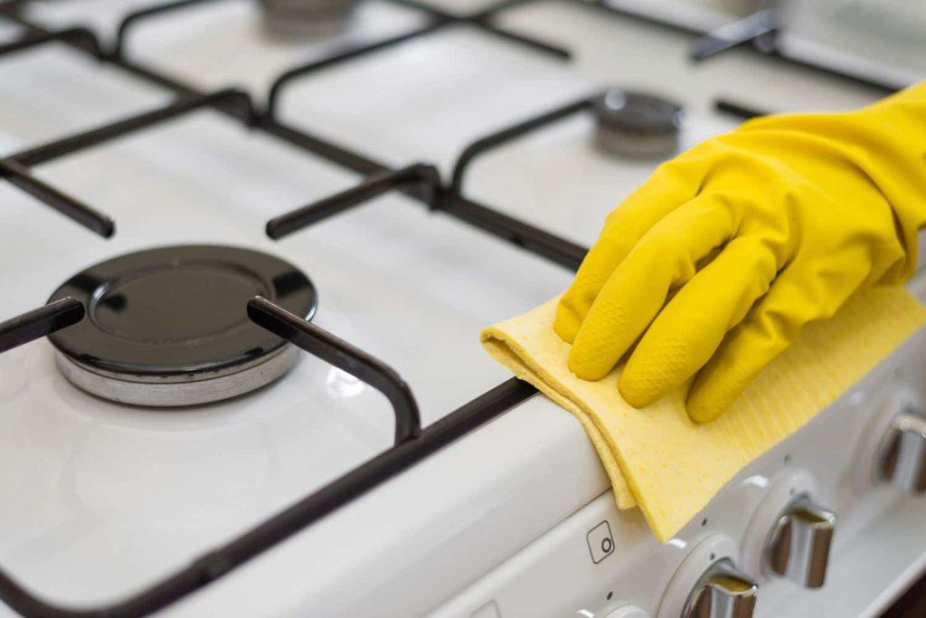 Как снять жир с плиты