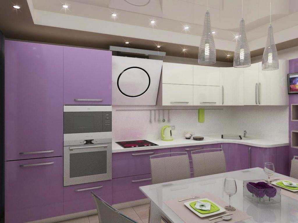она опубликовала кухни фиолетового цвета с белым фото поистине можно
